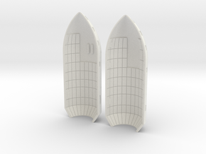 Falcon Heavy Media Fairings 1:64 in White Natural Versatile Plastic