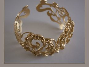 baroque bracelet in Polished Gold Steel