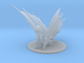 Adult Gold Dragon in Smooth Fine Detail Plastic