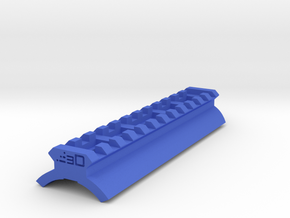Shotgun Receiver Picatinny Rail (Glue On) in Blue Processed Versatile Plastic