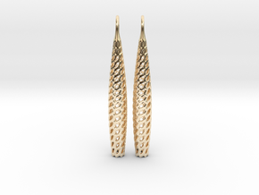 D-STRUCTURA Line Earrings. Structured Chic. in 14K Yellow Gold