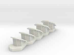 1:77 Scale Disney Nautilus Raised Breather Flaps in White Natural Versatile Plastic