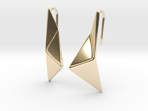 sWINGS Origami Earrings in 14K Yellow Gold