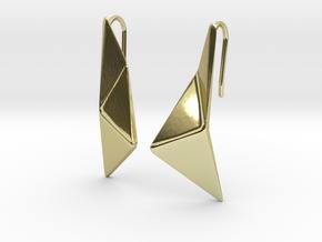 sWINGS Origami Earrings in 18k Gold Plated Brass