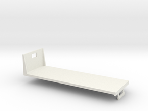 1/64th S Scale 24 foot flatbed in White Natural Versatile Plastic