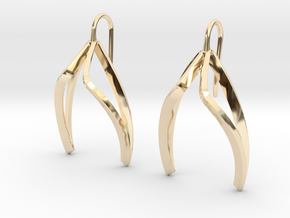 sWINGS Light Earrings. in 14K Yellow Gold