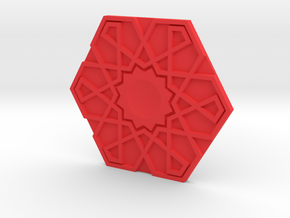 Geo Hex in Red Processed Versatile Plastic