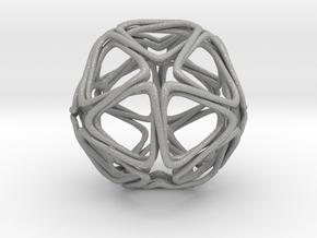 Icosahedron Looped in Aluminum