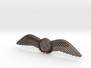 RAA (Recreational Aviation Australia) Wings / Brev in Polished Bronzed Silver Steel