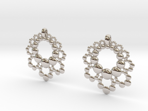 D Apo. Earrings in Rhodium Plated Brass