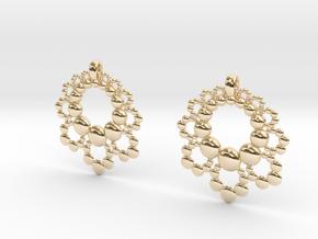 D Apo. Earrings in 14k Gold Plated Brass