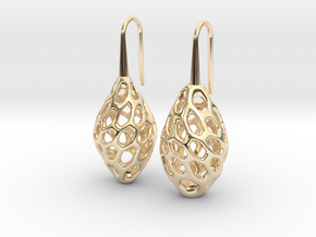 HONEYBIT Twist Earrings in 14K Yellow Gold