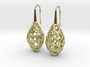 HONEYBIT Twist Earrings in 18k Gold Plated Brass