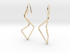 A-LINE Enmotion, Earrings in 14K Yellow Gold