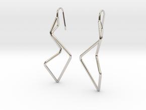 A-LINE Enmotion, Earrings in Rhodium Plated Brass