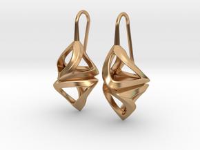 Trianon Twist, Earrings in Polished Bronze