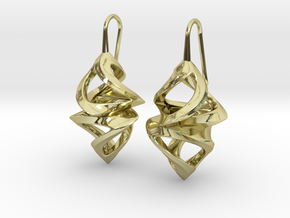 Trianon Twins, Earrings in 18k Gold Plated Brass