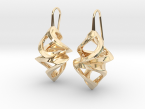 Trianon Twins, Earrings in 14K Yellow Gold
