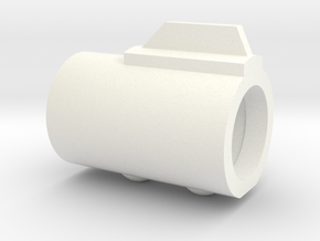 SOLO Bull Barrel (w/ screw details) in White Processed Versatile Plastic