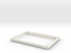 "Matrix Orbital 7.0"" Smooth Bezel Mount (Rev1.0) in White Natural Versatile Plastic"