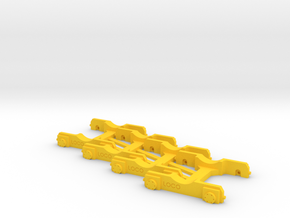 "4 x ""Loco Buggy V 1.0"" H0 (1:87) in Yellow Processed Versatile Plastic"