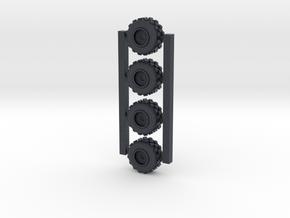 18mm diameter miniature wheels  in Black Professional Plastic