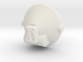 Large Tank Greeble in White Natural Versatile Plastic