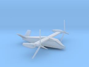 1/700 Scale Attack Bell V-280 Valor In Flight in Smooth Fine Detail Plastic