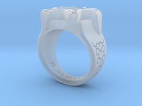 Russian Ring in Smooth Fine Detail Plastic: Medium