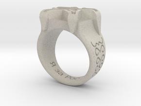 Russian Ring in Natural Sandstone: Medium