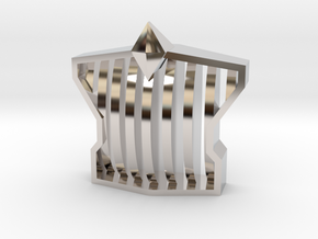 grill-monster-v2 in Rhodium Plated Brass