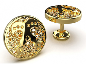 Rise2 Cufflinks in 14K Yellow Gold