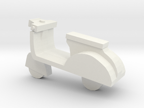 Miniature Scooter in White Natural Versatile Plastic