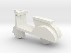 Miniature Scooter in White Natural Versatile Plastic