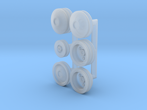 1/25 Generic Pulleys in Smooth Fine Detail Plastic
