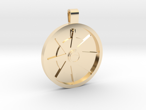 The Compass in 14k Gold Plated Brass: Medium