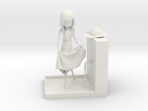 Takagi San Figurine in White Natural Versatile Plastic: Medium