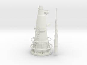 1/16 DKM UBoot VIICAttack Periscope w. compass in White Natural Versatile Plastic