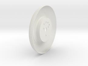 C-LRV wheel inner mesh & hub-FL&BR in White Natural Versatile Plastic
