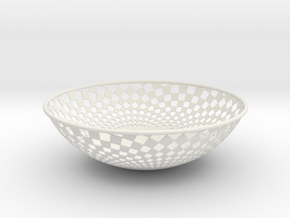 Bowl 1409B in White Natural Versatile Plastic
