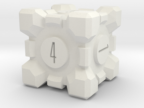 Portal Die with recessed numbers in White Natural Versatile Plastic