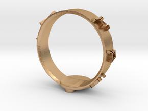 Stargate Dial Home Ring (size Z) in Natural Bronze