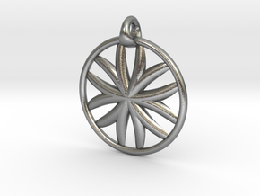 Flower of Life pendant type 1 in Natural Silver