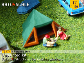 Pyramid tent (TT 1:120) in Smooth Fine Detail Plastic