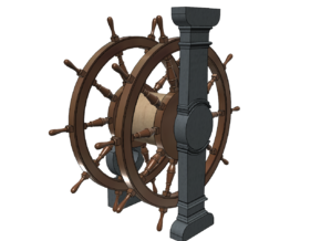 1/100 Ship's Wheel (Helm) for Ships-of-the-Line in Smoothest Fine Detail Plastic