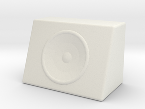 1/10 Scale Subwoofer M1 in White Natural Versatile Plastic