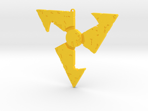 Dirty Bomb Keychain in Yellow Processed Versatile Plastic