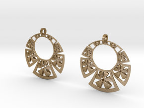 1924 Earrings  in Polished Gold Steel