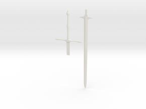 1/3rd Scale Zweihander Sword in White Natural Versatile Plastic