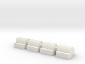 flat nub set in White Natural Versatile Plastic